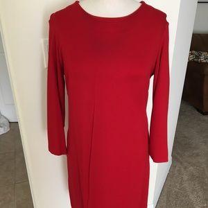Ann Taylor Red 3/4 Sleeve Dress